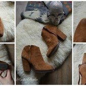 Шикарные замшевые ботинки Zara р-р 39