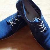 Кожаные туфли фирменные Pier One р.43-28см.