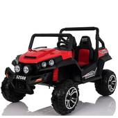 детский двухместный электромобиль m 3454 eblr-3: 4x4, 12V14f, 9 км/ч, eva, кожа– красный