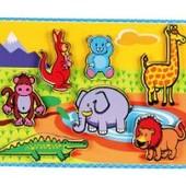 Рамка-вкладыш Животные от Viga Toys