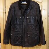 Красивая кожаная курточка с вельветовым воротником. Essentials XL