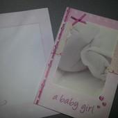 Поздравительная открытка  рамочка) с конвертом