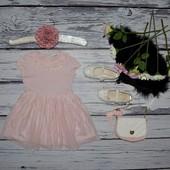 1 - 2 года 92 см очень нарядное романтичное и пышное платье моднице