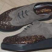 Новые фирменные туфли Италия р 38 стелька 24.5см