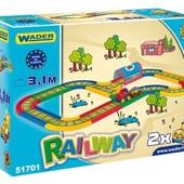 Kid Cars железная дорога ,3,1 м и 4,1 м, Wader