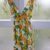 Трендовое летнее платье с лимонами XS-S-размер