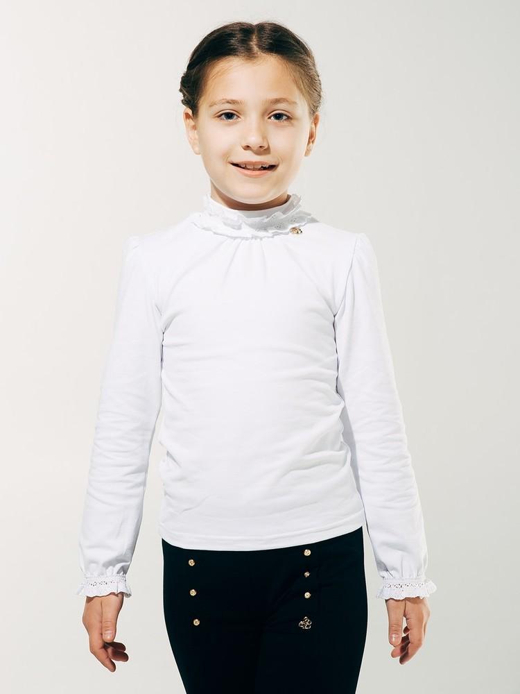 Школьная форма. smil. блуза с кружевной горловиной фото №1