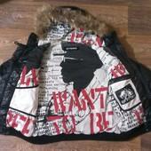 классный пуховик дутая куртка + жилетка 2 в 1 G.F.Ferre, р.М (48)
