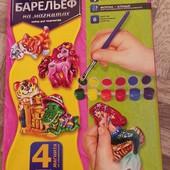 Новый расписной гипсовый барельеф на магнитах Danko Toys