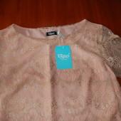 Утонченная кружевная блузочка-футболка Gepur xs-s