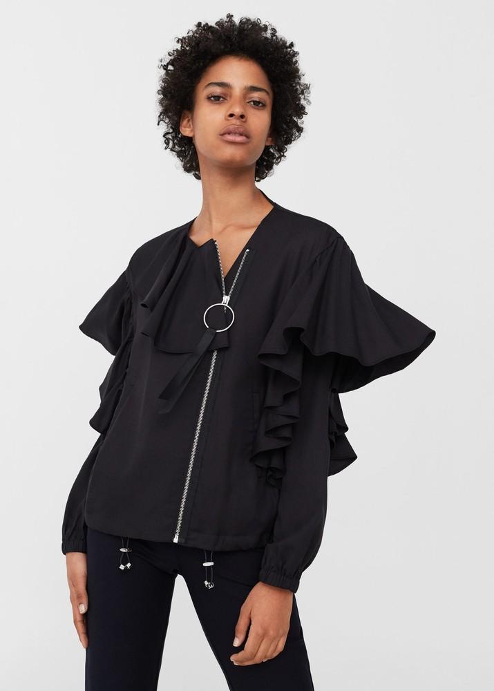 Шикарная , модная  женская куртка бомбер   маngo, размер м (38), новая с бирками  в наличии фото №1