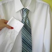 Рубашка + галстук Jeff Banks размер Л, состояние нового. Шикарная рубашка, фирменная, белоснежная. О