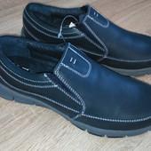 Туфли кожаные серые размер 41 европейская фирма Тех