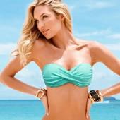 Новый купальник бандо Victoria's Secret оригинал бирюзовый 32А пуш-ап пушап на маленькую грудь 70А
