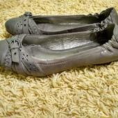 Брендовые кожаные туфли, балетки 5th avenue , размер 41, стелька 26,5см