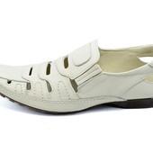 Мокасины мужские Van Kristi DT 521 белые