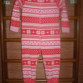 Пижама флисовая, девочке на 9-10 лет, рост до 140 см, Primark