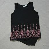 Фирменная красивая удлиненная блуза с вышивкой Cato США
