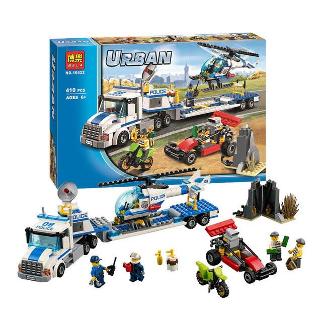 "Конструктор bela urban 10422 (аналог lego city 60049) ""перевозчик вертолёта"" (410 деталей) фото №1"