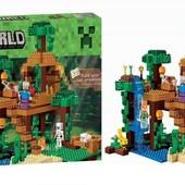 Конструктор Bela 10471 Домик на дереве в джунглях Minecraft 718 деталей