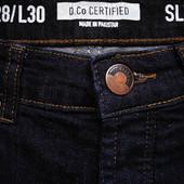 Мужские джинсы штаны синие стрейч D. CO Certifird Denim