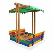 Пісочниця деревяна, кольорова 10