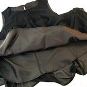 Нарядное элегантное чёрное платье от Oodji большого размера.