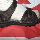 Брендовие стильние кожание сандалии босоножки оригинал Clarks (Кларкс) active Air 42.
