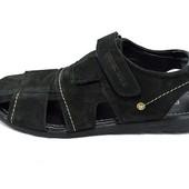 Сандали мужские нубук Multi Shoes Polo черные (реплика)