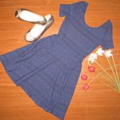 темно синее платье Divided XS