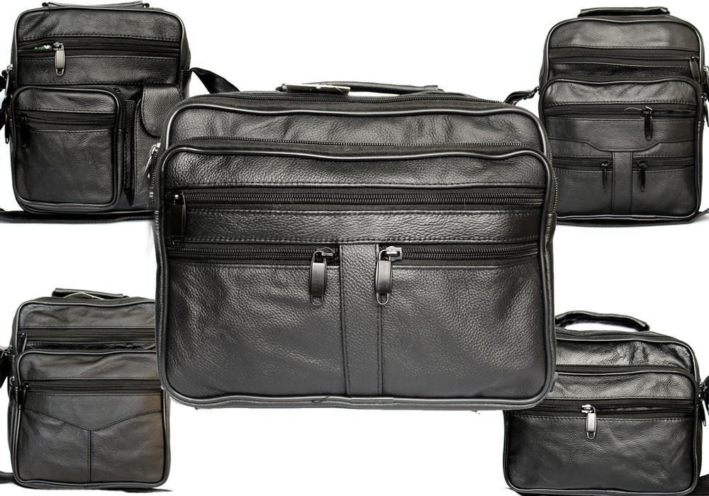 Мужская кожаная сумка в ассортименте по низким ценам фото №1