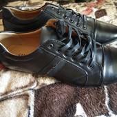 Новые кожаные туфли,  наш пролет с Амазон,  45р. Стелька 29.5см