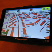 Автомобильный GPS hd 5'' навигатор Pioneer k53. Полный комплект.