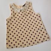 блузочка в цветочек с кружевным воротничком