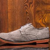 Туфли мужские замшевые susch размер 44-45 стелька 29.5 см состояние хорошее