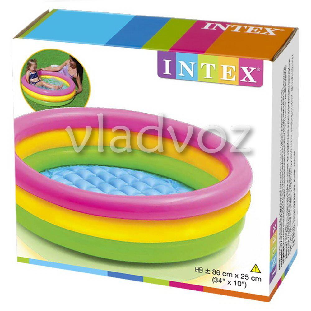 Детский надувной бассейн Intex 58924 надувное дно фото №1