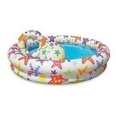 Детский надувной бассейн с кругом и мячом Intex 59460