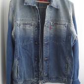 Мужская джинсовая куртка размер XL