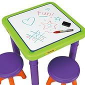 Crayola Детский стол с 2 стульчиками парта мольберт 5006 sit and draw play table