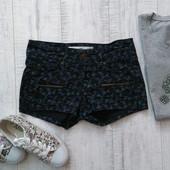 Джинсовые шорты с цветочным принтом H&M 34 р