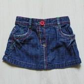 Джинсовая юбка для маленькой модницы. Next. Размер 0-1 месяц. Состояние: новой вещи