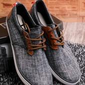 Стильные кеды с коричневой шнуровкой 13760-57