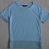 Блузка футболка с кружевом  New Look, р10