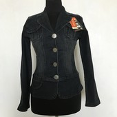 Джинсовый женский пиджак куртка
