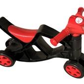 Мини байк без звука 0136/02 черно-красный Фламинго Doloni мотоцикл каталка велобег беговел