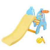Горка для деток (159*67*76,5) Бэмби-Жираж,с баскетбольным кольцом,голубая