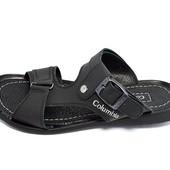 Сандалии мужские кожаные Columbia B5 черные (реплика)