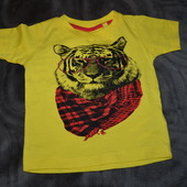 новая футболка Early days мальчику 12 мес рост 80 см хлопок