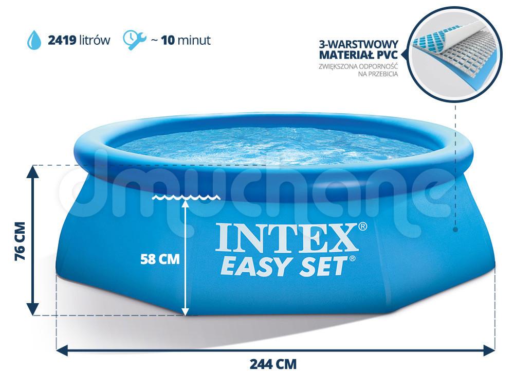 Бассейн наливной 244х76см Intex 56970 Интекс семейный надувной 28110, басейн фото №1