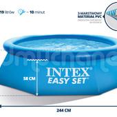 Бассейн наливной 244х76см Intex 56970 Интекс семейный надувной 28110, басейн